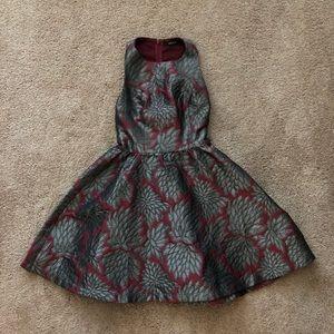 Ark & Co black and burgundy patterned dress